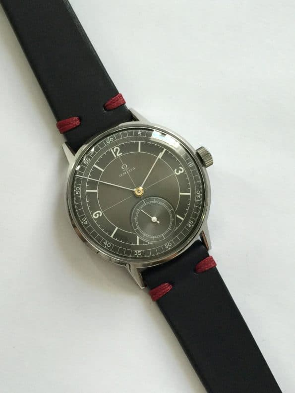 Refurbished 37mm Black Sector Dialed Omega Vintage