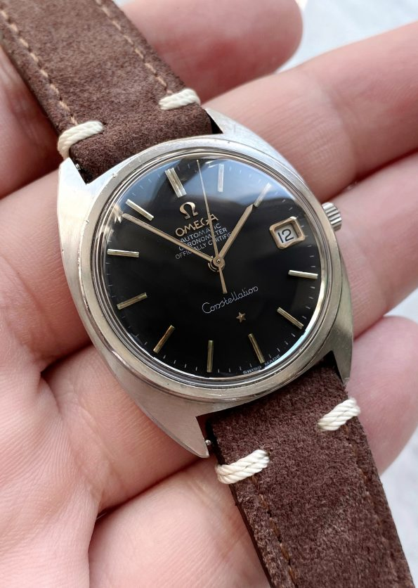 Omega Constellation Automatic Vintage C Shape black dial