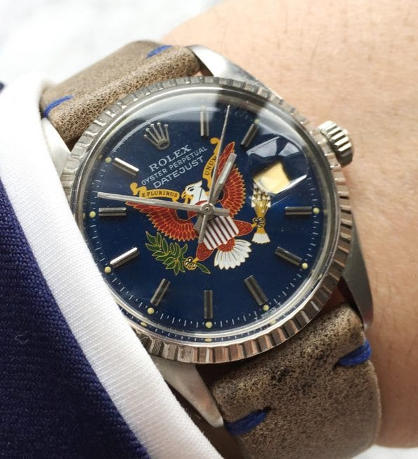 Tolle Rolex Datejust Vintage customised President Dial