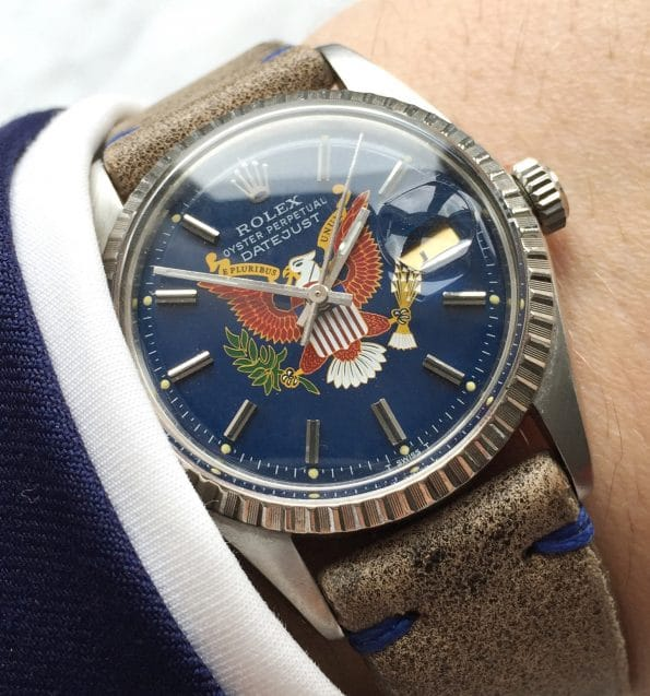 Great Rolex Datejust Vintage with customised President Dial