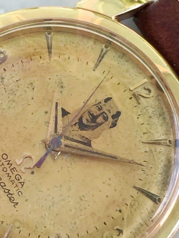 Seltene Omega Seamaster Automatik Vintage Rosegoldvergoldet Scheich