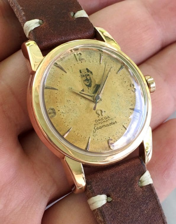 Rare Vintage Omega Seamaster Automatic Rose Gold Plated with Sheikh dial
