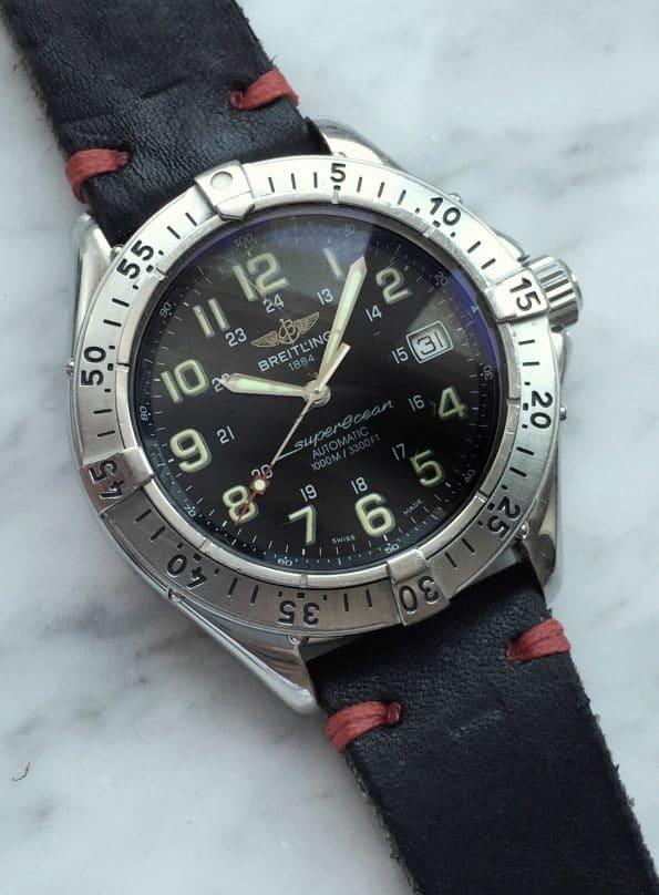 Vintage Breitling Superocean Diver Automatic Black Dial