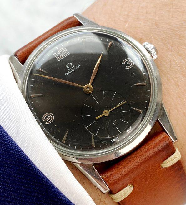 Omega Oversize Jumbo Vintage black restored dial