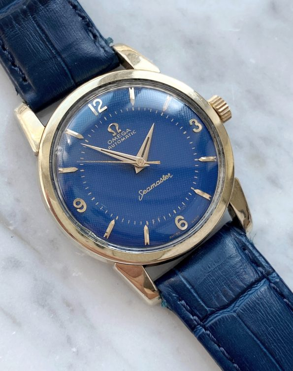 Customised Omega Seamaster Automatic Honeycomb custom blue dial