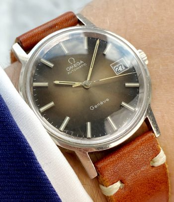 Vintage Omega Geneve Brown Dial Automatic