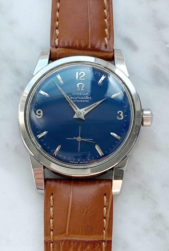 Customised Omega Seamaster Automatic custom blue dial