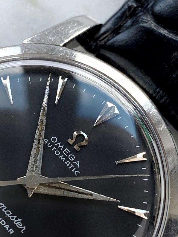 Omega Seamaster Calendar Hammerautomatik schwarzes restauriertes Ziffernblatt