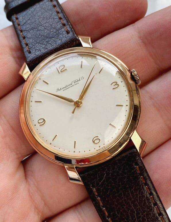 Rare Rose Gold 18ct Vintage IWC SHARKFIN Lugs
