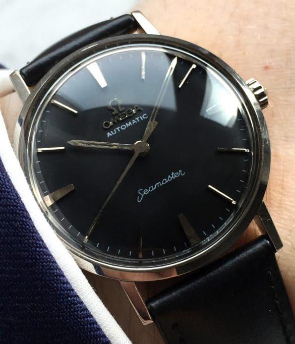 Vintage Omega Seamaster Pre De Ville Automatic black dial