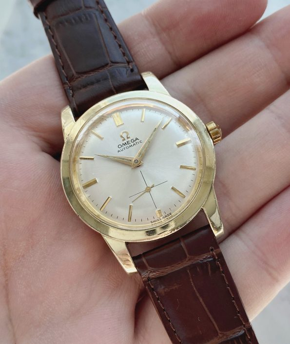 Gold Plated Omega Automatic Bumper Watch ref 2576