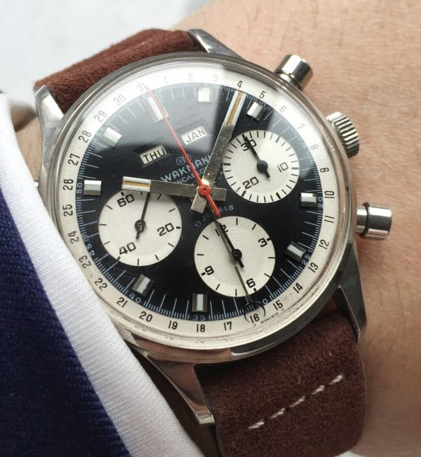 Serviced Wakmann Vintage Chronograph Triple Date Fantastic Condition