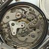Vintage Buren Reverse Panda Dial Chronograph 37mm Valjoux 7733