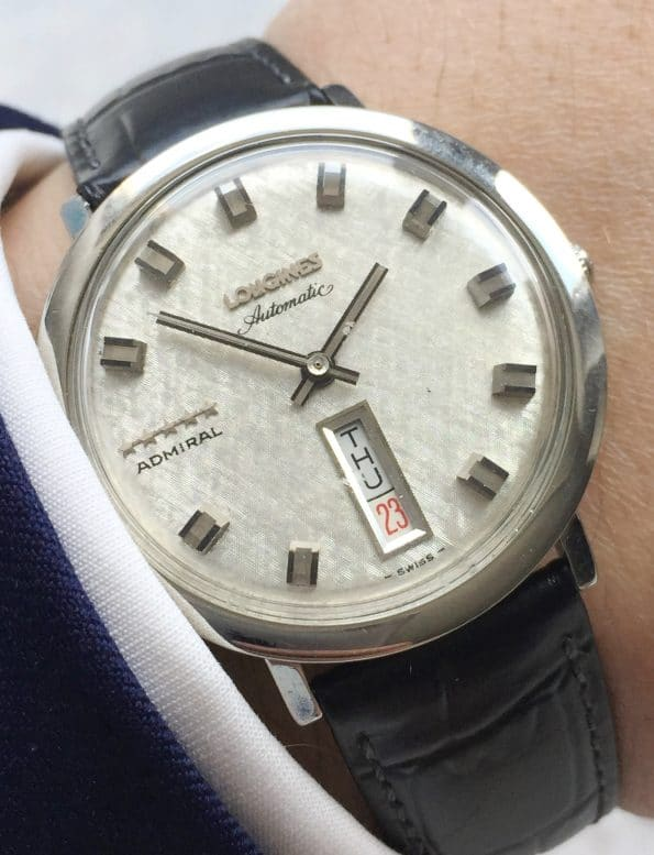 Perfect Linen Dialed Longines Admiral 5 Star Automatic