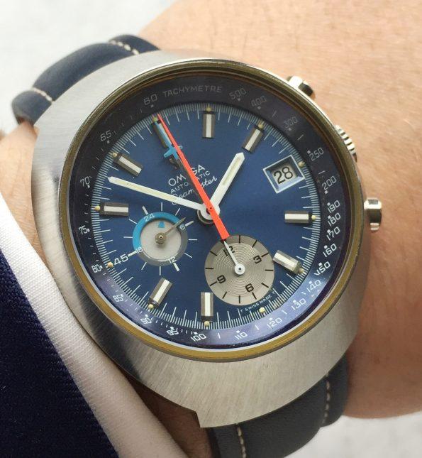 Omega Seamaster Speedmaster Mark 3 Blaues Ziffernblatt Automatik Jedi