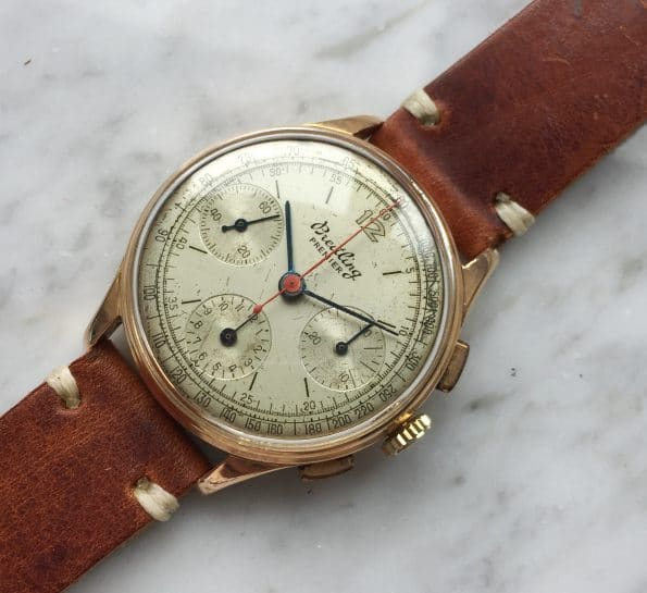 Vintage Breitling Premier Chronograph Reff 787 aus massivem Roségold