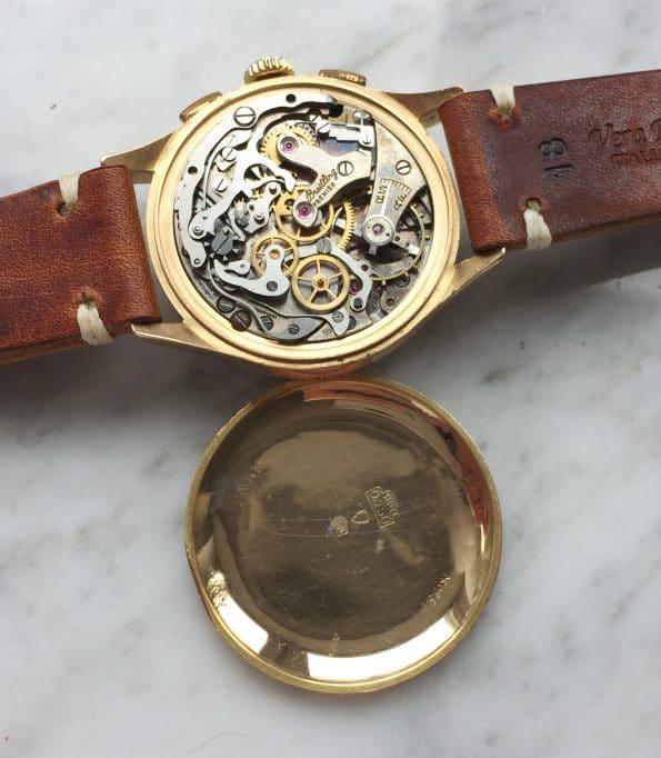 Vintage Breitling Premier Chronograph 787 18k Rose Gold