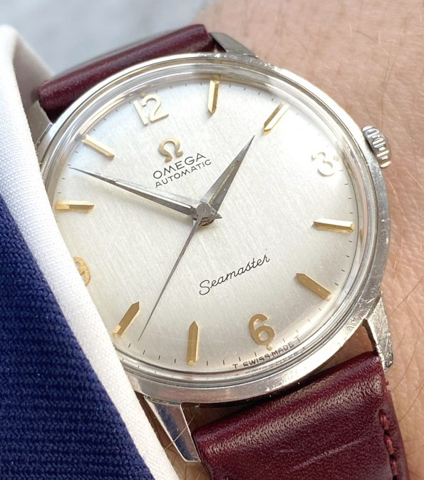 Beautiful Omega Seamaster Automatic Top Condition Linen Dial