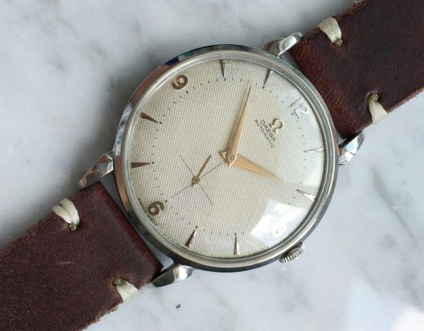 Early Omega Bumper Hammer-Automatic Vintage Honeycomb 37mm