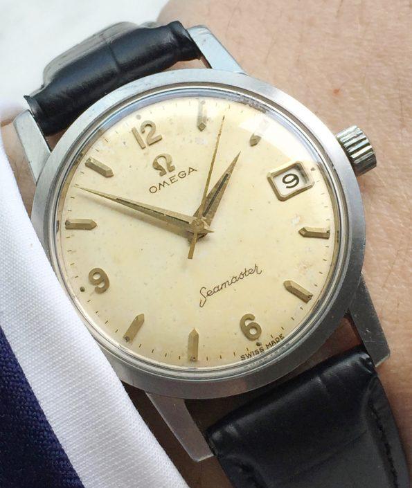 Vintage Omega Seamaster Handwinding Cream Dial Cal 610