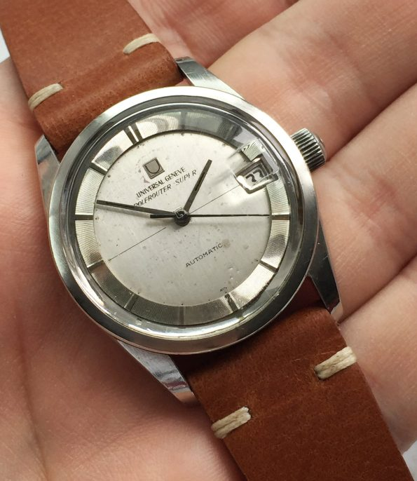 Universal Geneve Polerouter Date Automatic silver dial