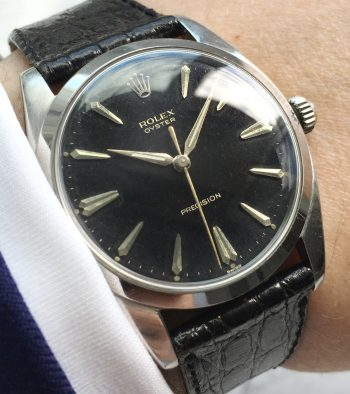 Black GILT Dialed Rolex Vintage 36mm from 1962
