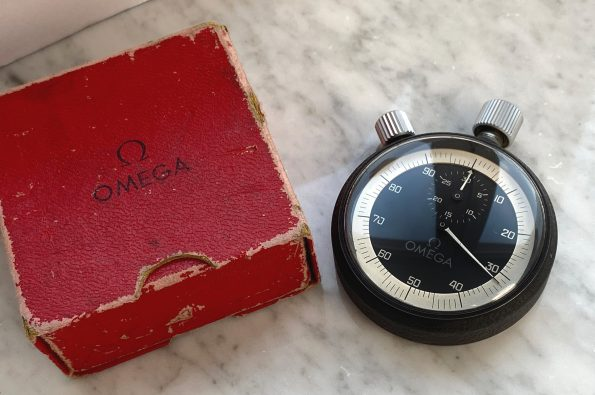 Omega sports stopwatch with box