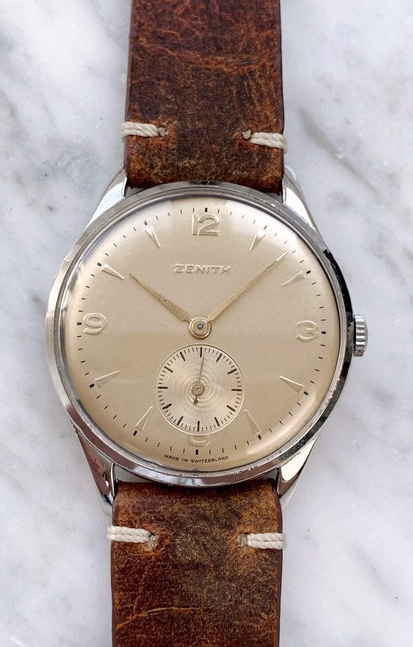 Beautiful Vintage Zenith 38mm Oversize Jumbo