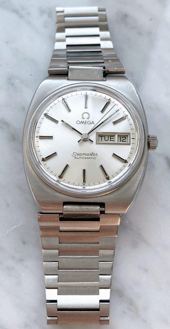 Vintage Omega Seamaster Day Date Automatik cal 1020 langes Omega Stahlband