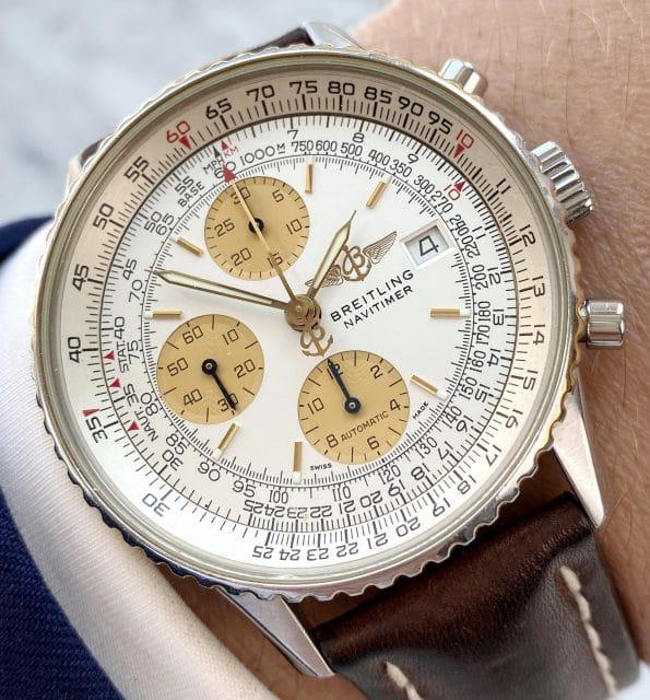 Servicierter Stahl Gold Breitling Navitimer Chronograph Automatik in tollem Zustand