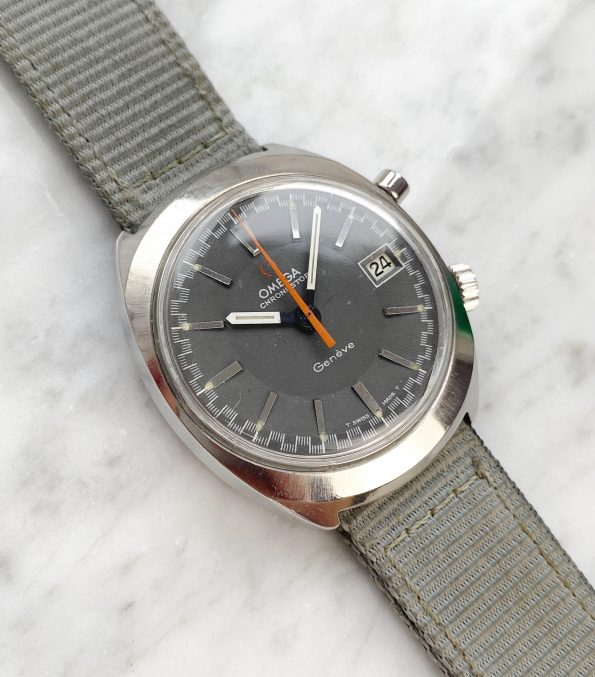 Omega Chronostop Vintage Date Steel matte grey dial