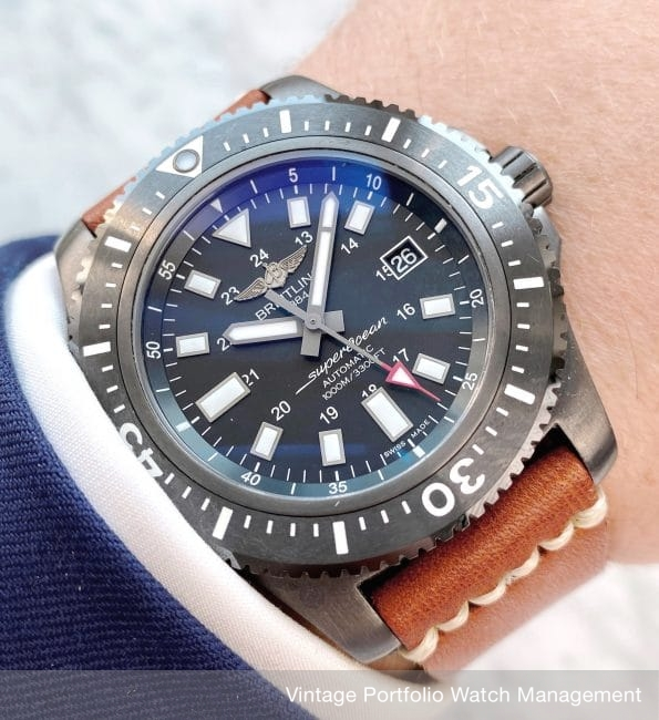 FULL SET Breitling Superocean 44 from 2017 Automatic Black PVD