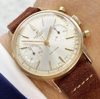 Top Vintage Breitling Top Time Chronograph Rosegoldvergoldet