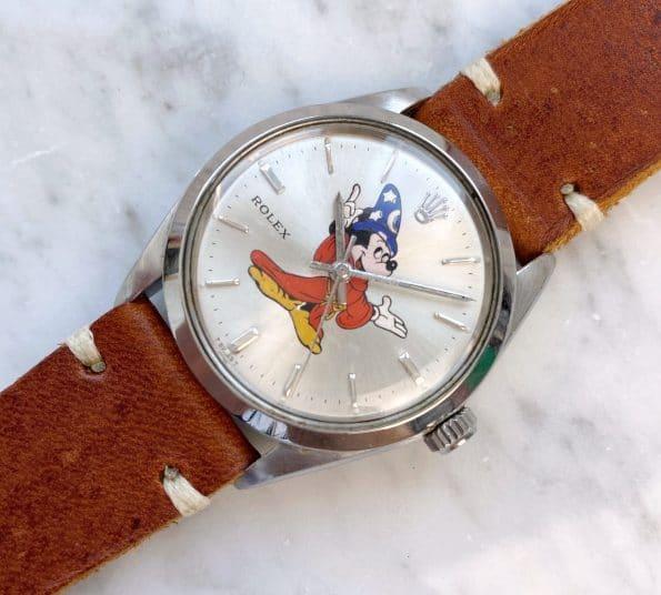 Customised Vintage Rolex Air King Ref 5500 Micky Maus Ziffernblatt
