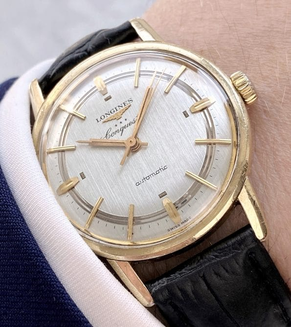 Stunning Vintage Longines with Linen Sector dial