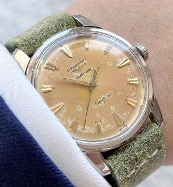 Vintage Longines Conquest Automatic Cream Dial Beefy Lugs