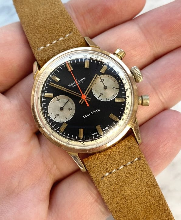 Serviced Reverse Panda Breitling Top Time Chronograph Rare