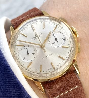 Unpolierte Breitling Top Time Chronograph Vergoldet