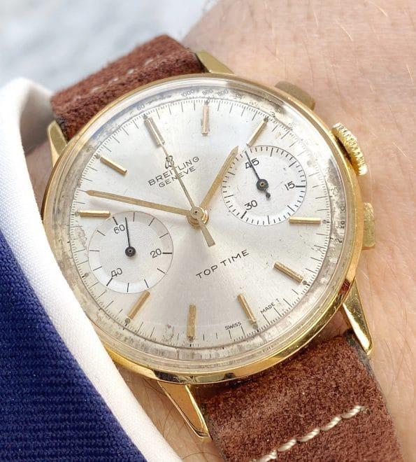 Unpolierte Breitling Top Time Chronograph Vergoldet