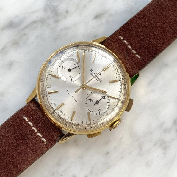 Unpolished Breitling Top Time Chronograph Gold Plated