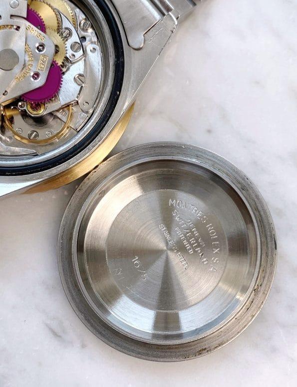 Vintage Rolex GMT Master Tiger Eye Root Beer 1675 Nipple Dial