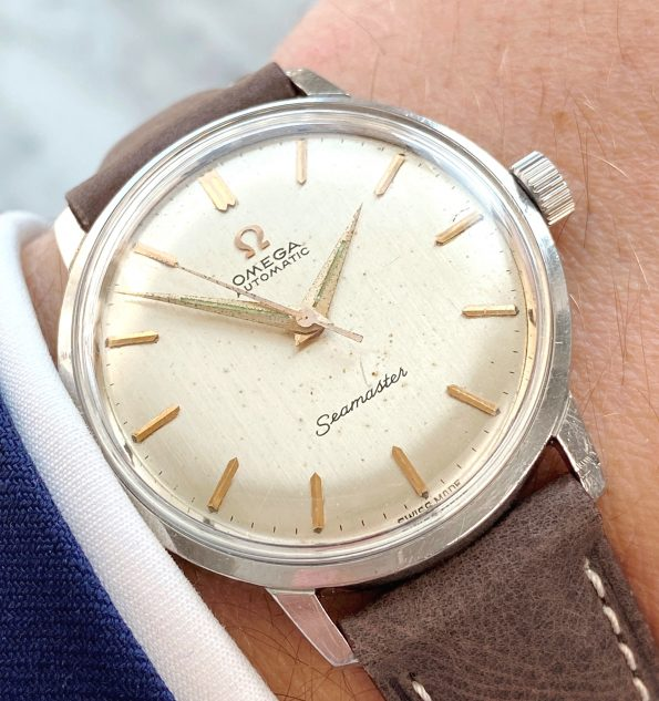 Cool Omega Seamaster Automatic Linen Dial