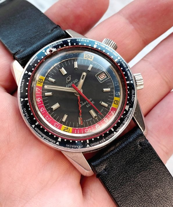 Serviced Enicar Sherpa Diver Guide GMT Top Condition