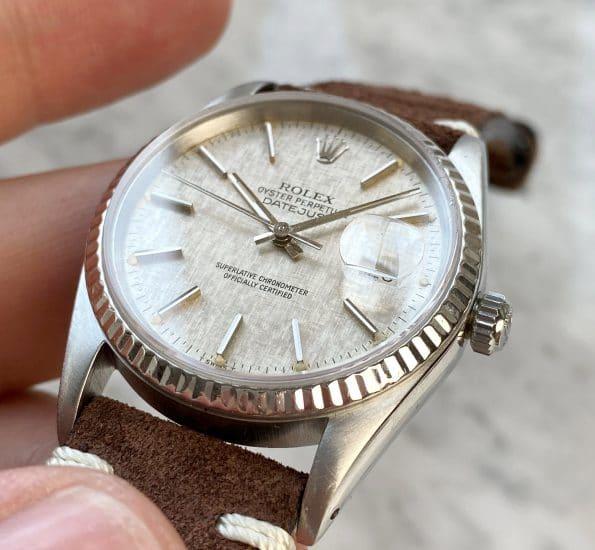 Beautiful Vintage Rolex Datejust Automatic Automatik Linen Dial