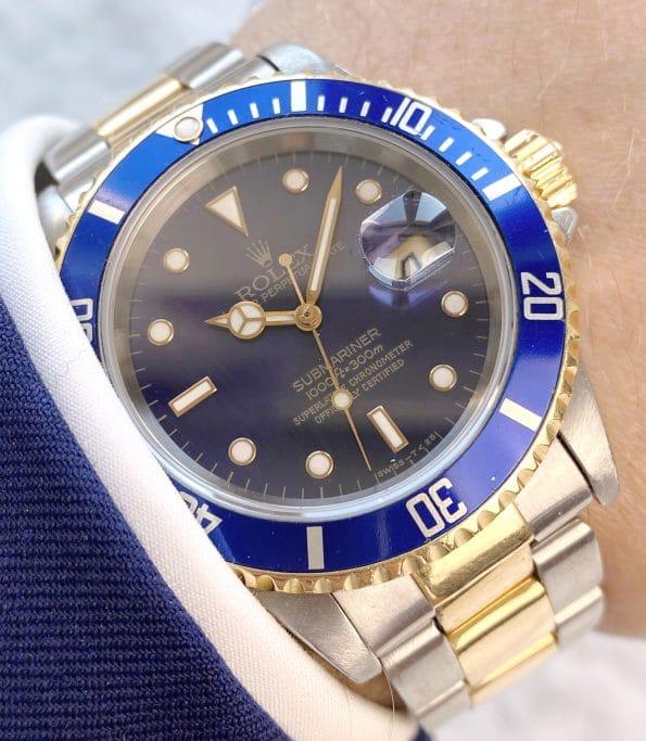 Vintage Rolex Submariner Purple 16613 from 1995