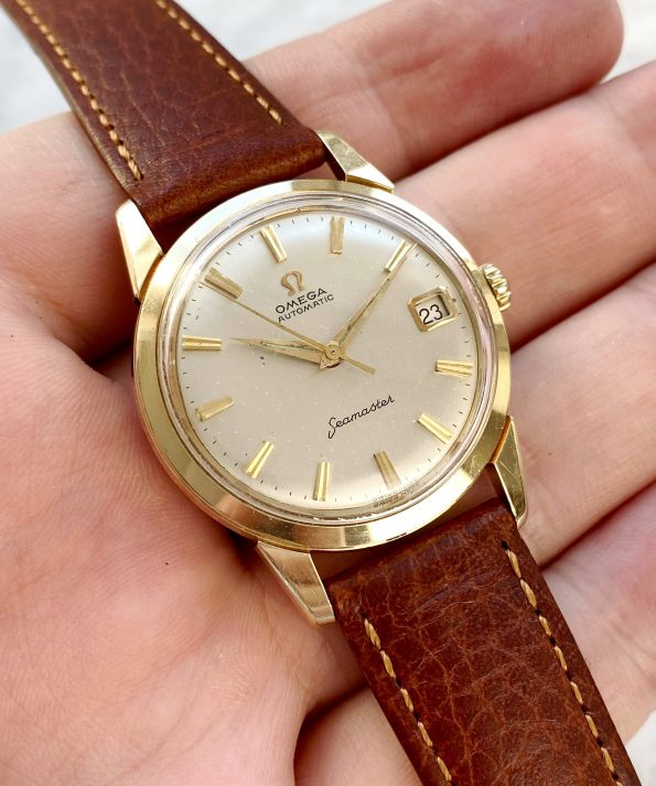 Vintage Omega Seamaster Automatic Solid Gold