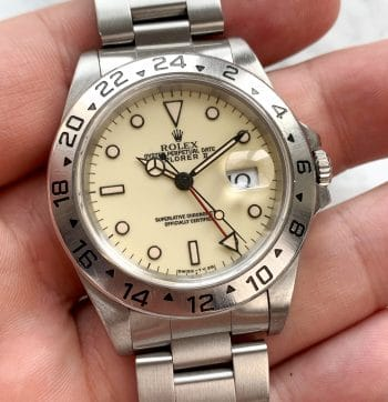 AUTHENTICATED Vintage Rolex Explorer II Cremefarbenes Ziffernblatt