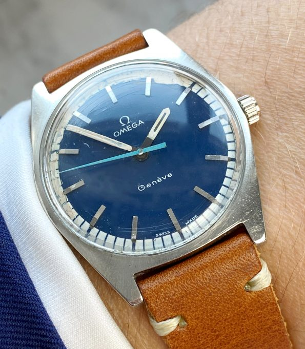 Interesting Omega Geneve Blue Dial Vintage