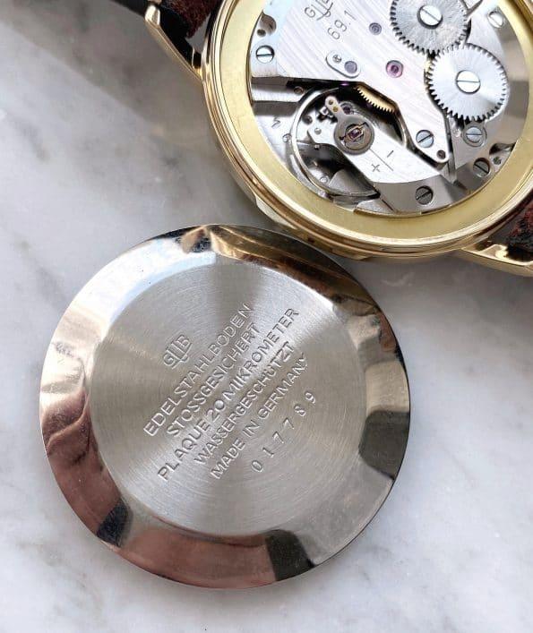 Gold Plated Vintage Gub Glashütte Handwinding