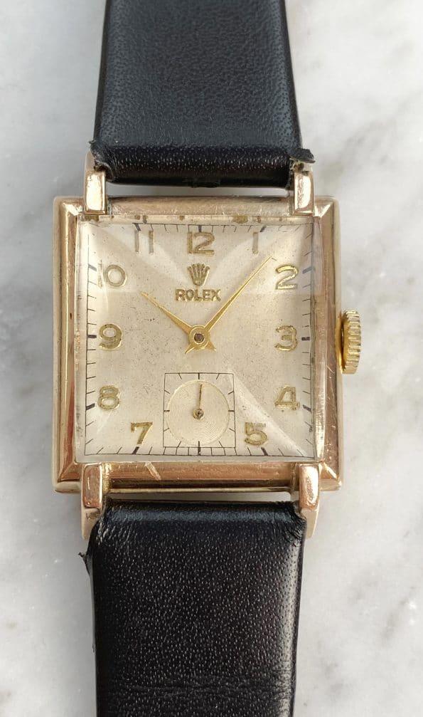 Serviced Pink Gold Art Deco Rolex Lady Damen Pink Gold 9ct